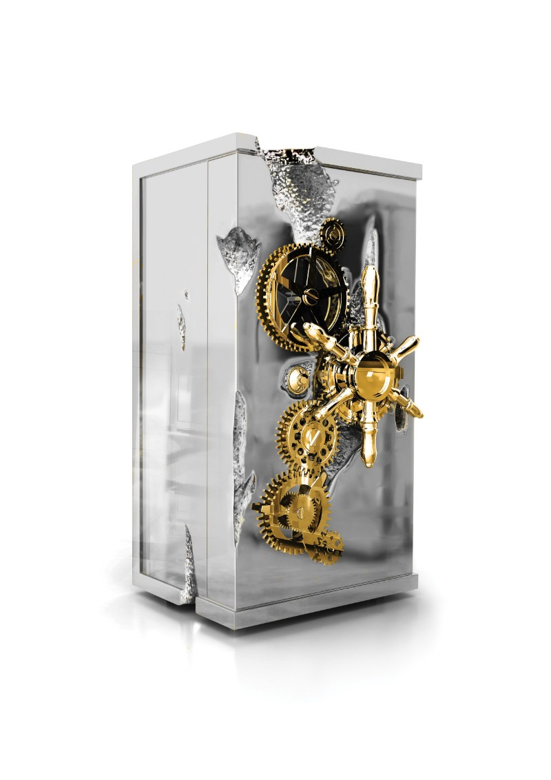 Statement Pieces By Boca do Lobo: Luxury Safes With A Unique Design boca do lobo Statement Pieces By Boca do Lobo: Luxury Safes With A Unique Design Millionaire Silver by Boca do Lobo 1