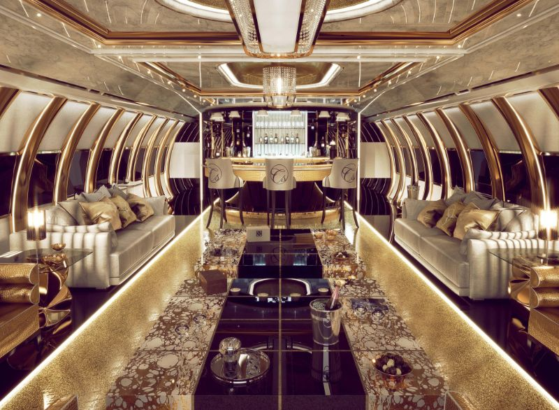 Private Airbus A340's Design: Opulence To Another Level By Celia Sawyer celia sawyer Sky-High Luxury – An Opulent Private Airbus Design By Celia Sawyer Private Airbus A340s Design Opulence To Another Level By Celia Sawyer 5