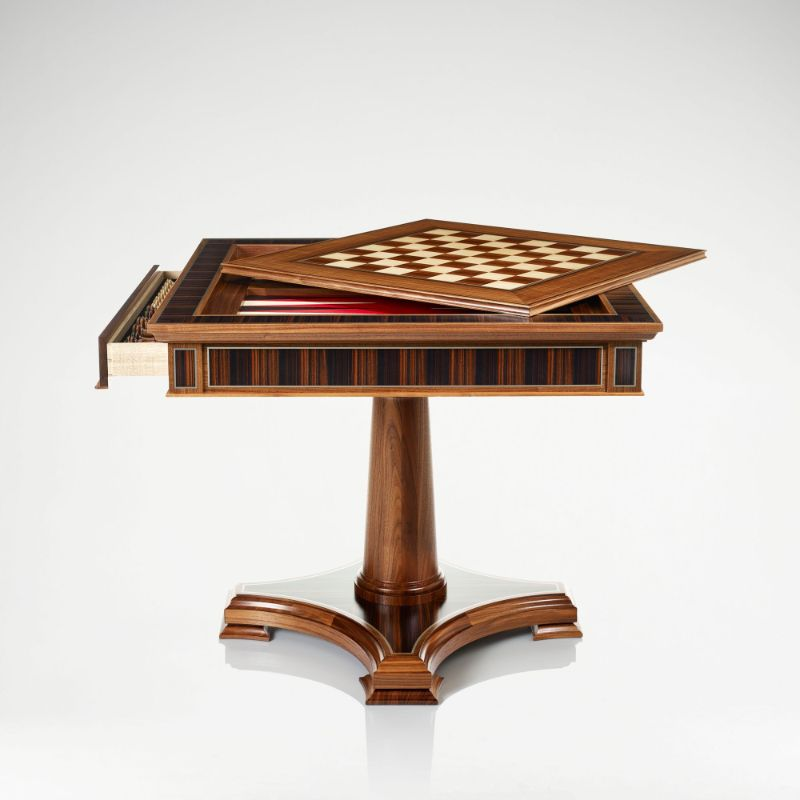 """Checkmate!"" - Get Impressed By These Luxury Games Tables luxury games tables Checkmate! – Get Impressed By These Luxury Games Tables linley classic games table walnut 1"
