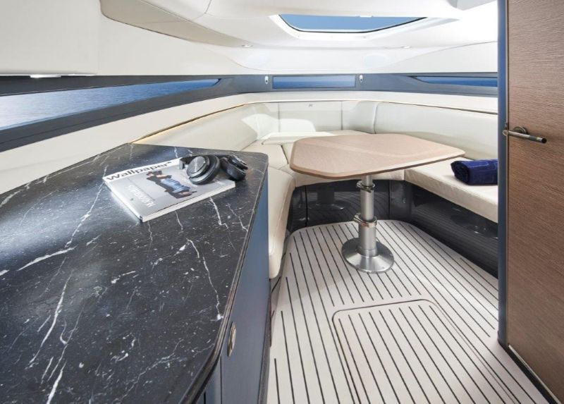 Agility And Elegance: Get Amazed By Princess R35 Superyacht superyacht Agility And Elegance: Get Amazed By Princess R35 Superyacht r35 interior saloon 1