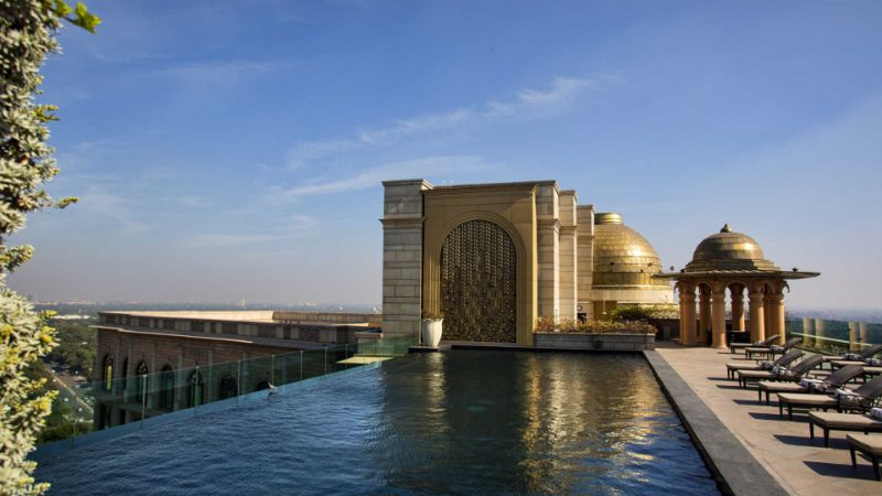 luxury hotel Take A Look At These 10 Stunning Luxury Hotel's Infinity Pools the leela palace new delhi 40660018 1509636835 ImageGalleryLightboxLarge