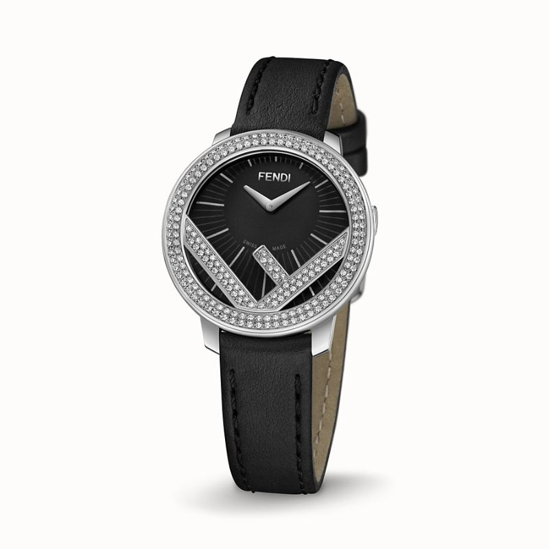 Discover The Best Holiday's Gifts: Unique & Luxury Watches For Women luxury watches Luxury Watches – Exclusive Timepieces For Women Fendi Run Away Stainless Steel Diamond Leather Strap Watch 1