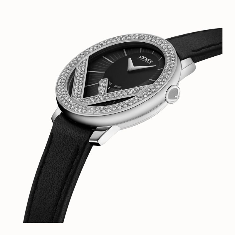 Discover The Best Holiday's Gifts: Unique & Luxury Watches For Women luxury watches Luxury Watches – Exclusive Timepieces For Women Fendi Run Away Stainless Steel Diamond Leather Strap Watch 2