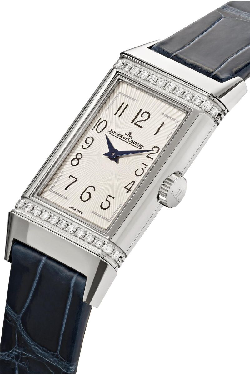 Discover The Best Holiday's Gifts: Unique & Luxury Watches For Women luxury watches Luxury Watches – Exclusive Timepieces For Women Jaeger LeCoultre Reverso One Medium 20mm Stainless Steel Diamond and Alligator Watch 1