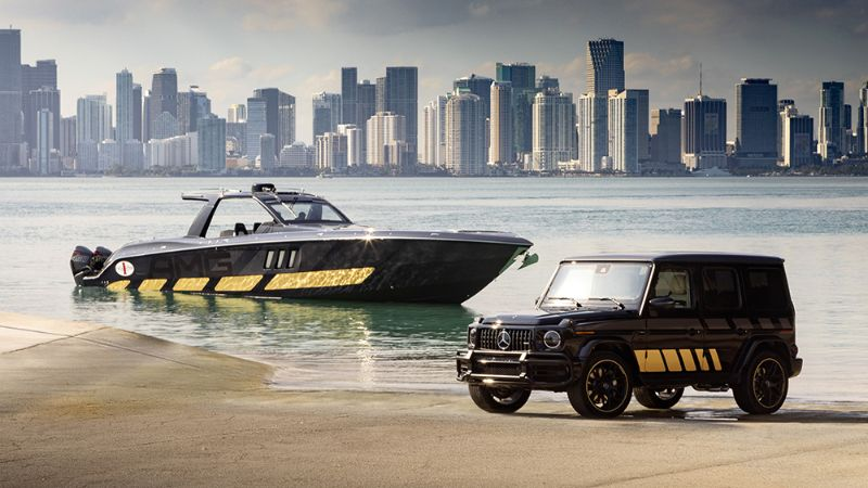 Mercedes-AMG x Cigarette Racing Powerboat: A Boat & Car Collaboration racing powerboat Mercedes-AMG x Cigarette Racing Powerboat: A Boat & Car Collaboration Mercedes AMG x Cigarette Racing Powerboat A Boat Car Collaboration 1