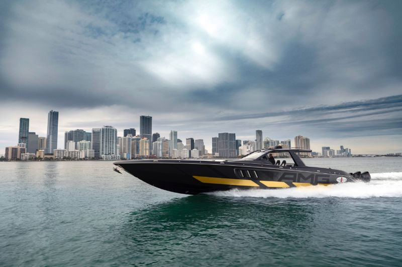 Mercedes-AMG x Cigarette Racing Powerboat: A Boat & Car Collaboration racing powerboat Mercedes-AMG x Cigarette Racing Powerboat: A Boat & Car Collaboration Mercedes AMG x Cigarette Racing Powerboat A Boat Car Collaboration 2