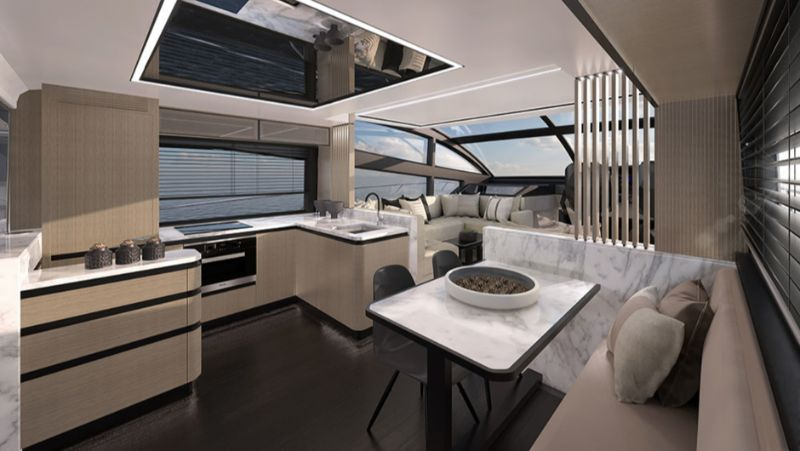 The New Pearl 62 Yacht Design: A Modern Sea Sanctuary By Kelly Hoppen kelly hoppen The New Pearl 62 Yacht Design: A Modern Sea Sanctuary By Kelly Hoppen Pearl 62 yacht 4