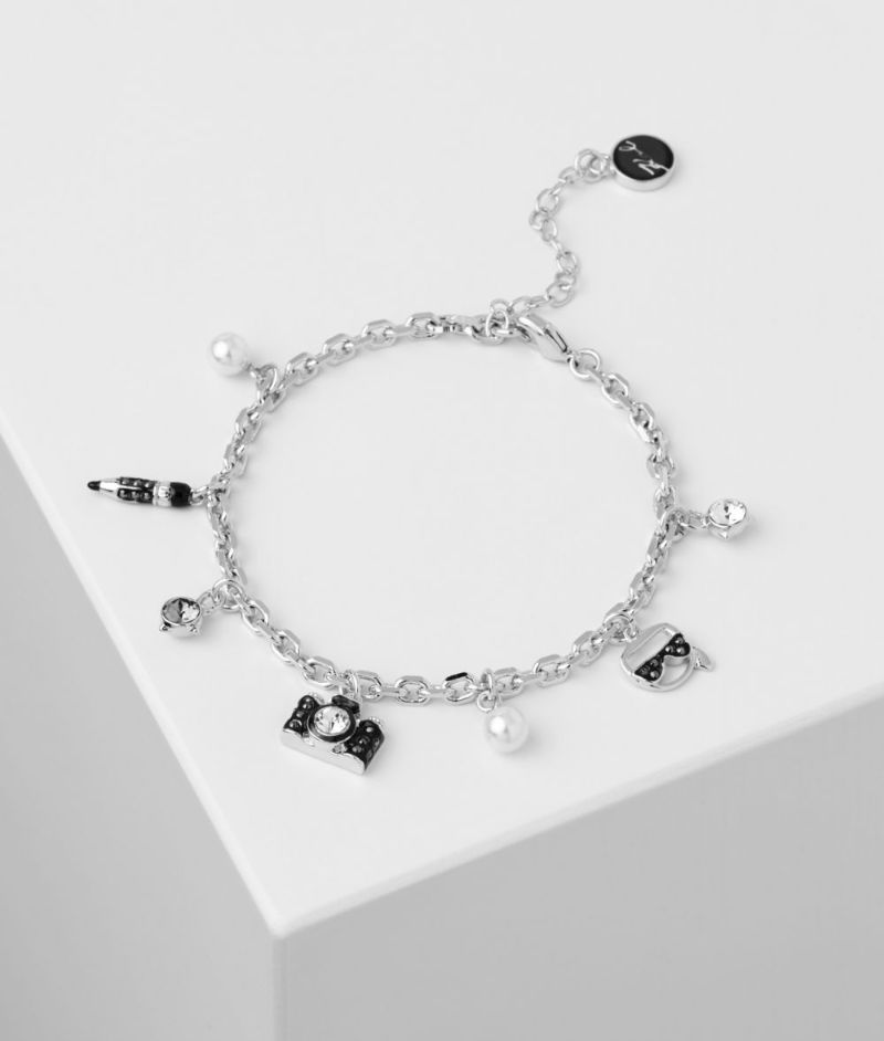 The Best Of Karl Lagerfeld's Design: The Most Supreme Jewerly Pieces karl lagerfeld The Best Of Karl Lagerfeld's Design: The Most Supreme Jewelry Pieces K CHARMS BRACELET