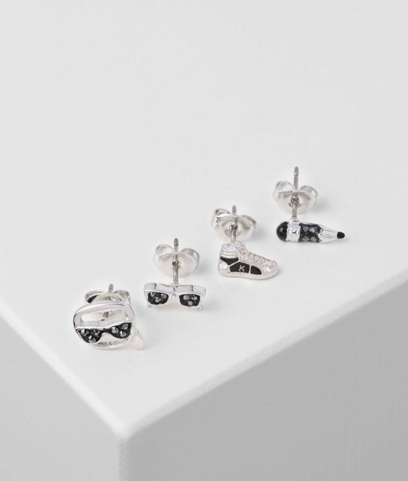 The Best Of Karl Lagerfeld's Design: The Most Supreme Jewerly Pieces karl lagerfeld The Best Of Karl Lagerfeld's Design: The Most Supreme Jewelry Pieces K CHARMS STUD EARRINGS