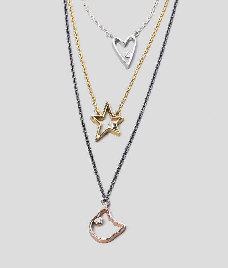 The Best Of Karl Lagerfeld's Design: The Most Supreme Jewerly Pieces karl lagerfeld The Best Of Karl Lagerfeld's Design: The Most Supreme Jewelry Pieces TRIPLE CHAIN PENDANT NECKLACE