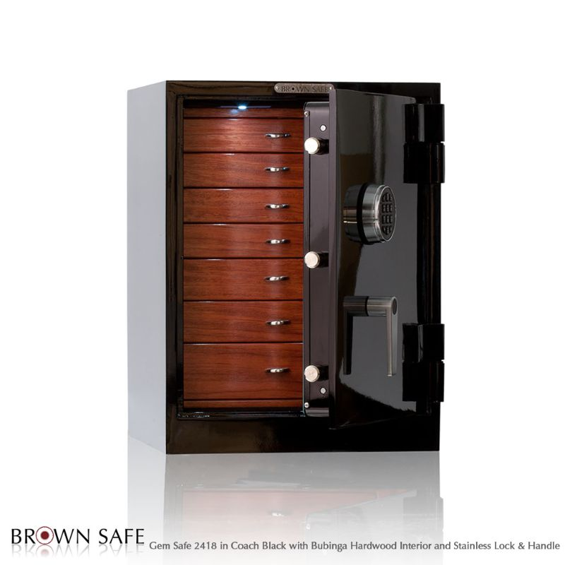 The Gem Luxury Jewelry Safes: Symbols Of High Quality By Brown Safe brown safe The Gem Luxury Jewelry Safes: Symbols Of High Quality By Brown Safe Gem 2418 Jewelry Safe Coach Black