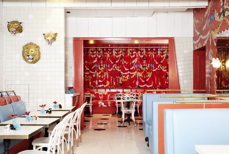 "Sasha Bikoff's Unique Design Project: The Mess, An Iconic Restaurant sasha bikoff Sasha Bikoff Designs ""TheMess"", Based On Her Traveling Experiences Sasha Bikoffs Unique Design Project The Mess An Iconic Restaurant 8"