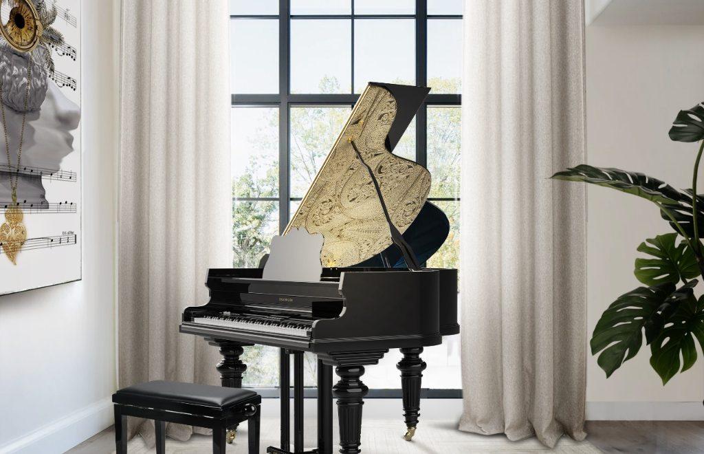 A Jewelry Expression's Piece: The Filigree Grand Piano by Boca do Lobo