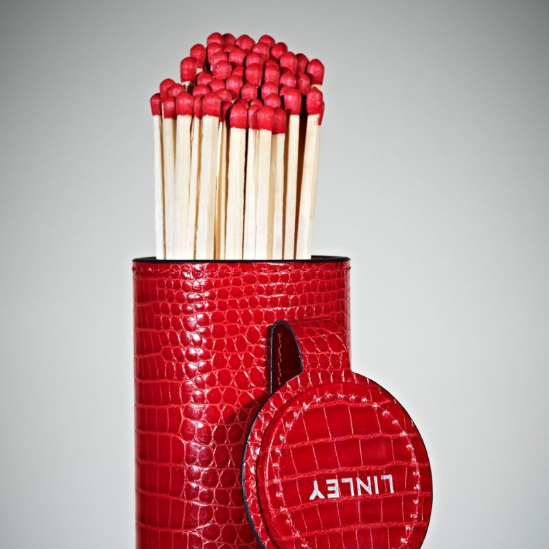 David Linley's Ideal Gifts For An Exclusive Cigar Connoisseur david linley David Linley's Ideal Gifts For An Exclusive Cigar Connoisseur giant match holder red closeup
