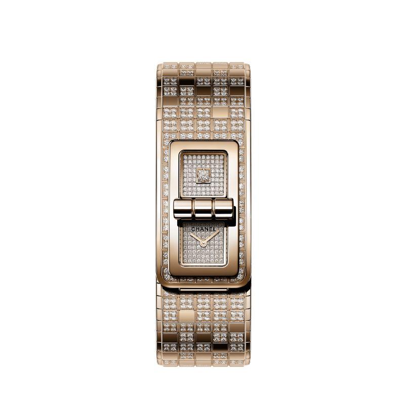 Get Impressed By The New Chanel Contemporary Fine-Watch Designs chanel Get Impressed By The New Chanel Contemporary Fine-Watch Designs code coco pixel watch beige beige gold diamond packshot default h6369 8825877594142