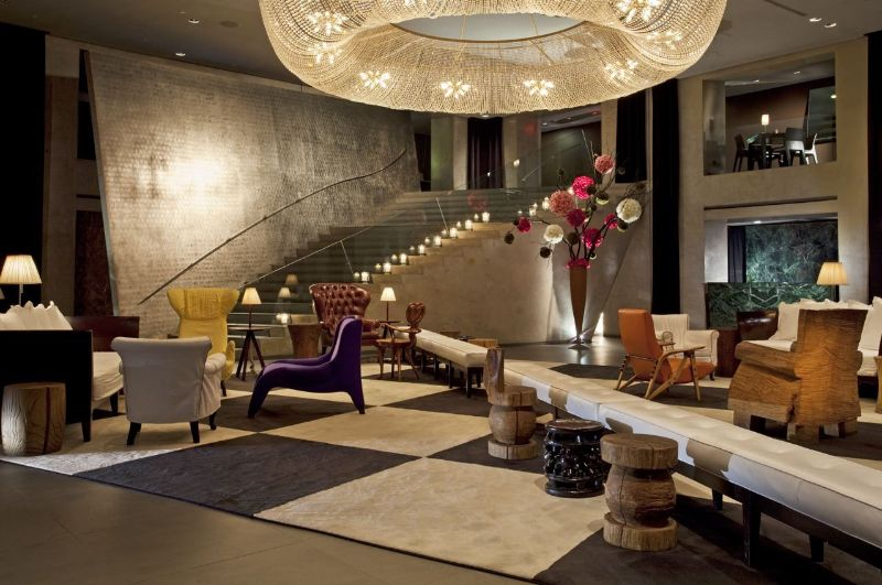Warm And Dramatic Details Inside Hotel Paramount By Philippe Starck philippe starck Warm And Dramatic Details Inside Hotel Paramount By Philippe Starck Hotel Paramount New York 2  3