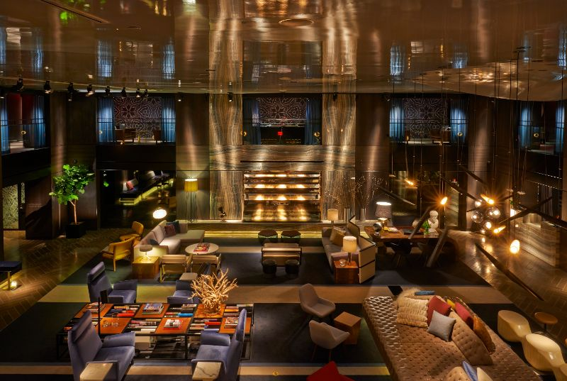 Warm And Dramatic Details Inside Hotel Paramount By Philippe Starck philippe starck Warm And Dramatic Details Inside Hotel Paramount By Philippe Starck Hotel Paramount New York 2