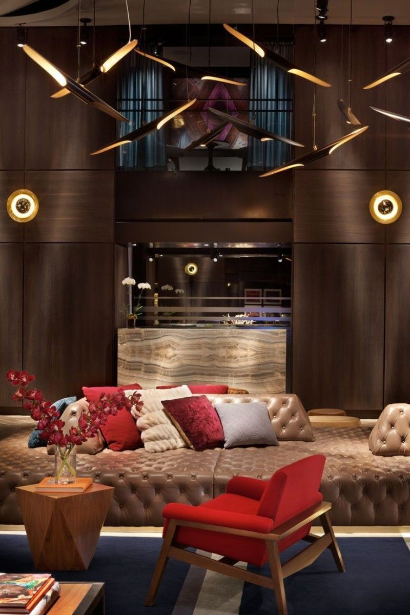 Warm And Dramatic Details Inside Hotel Paramount By Philippe Starck philippe starck Warm And Dramatic Details Inside Hotel Paramount By Philippe Starck Hotel Paramount New York