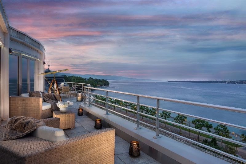 The Five Most Expensive Vacations Spot In The World luxury lifestyle Exclusive Vacation Getaways To Enhance Your Luxury Lifestyle Royal Penthouse at the President Wilson Hotel Geneva 1