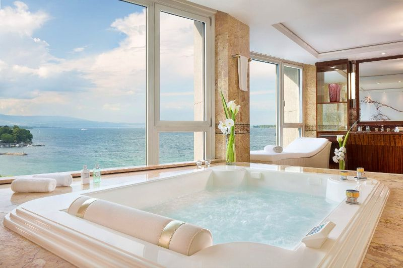 The Five Most Expensive Vacations Spot In The World luxury lifestyle Exclusive Vacation Getaways To Enhance Your Luxury Lifestyle Royal Penthouse at the President Wilson Hotel Geneva 2