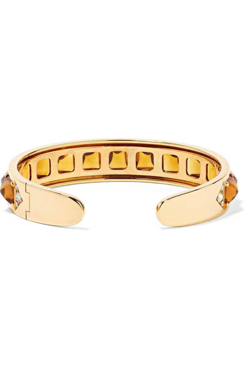Inspired By The Past: Modern Jewelry Pieces By Fred Leighton fred leighton Inspired By The Past: Modern Jewelry Pieces By Fred Leighton Signed Fred Leighton 18K Yellow Gold Sugarloaf Citrine Cuff
