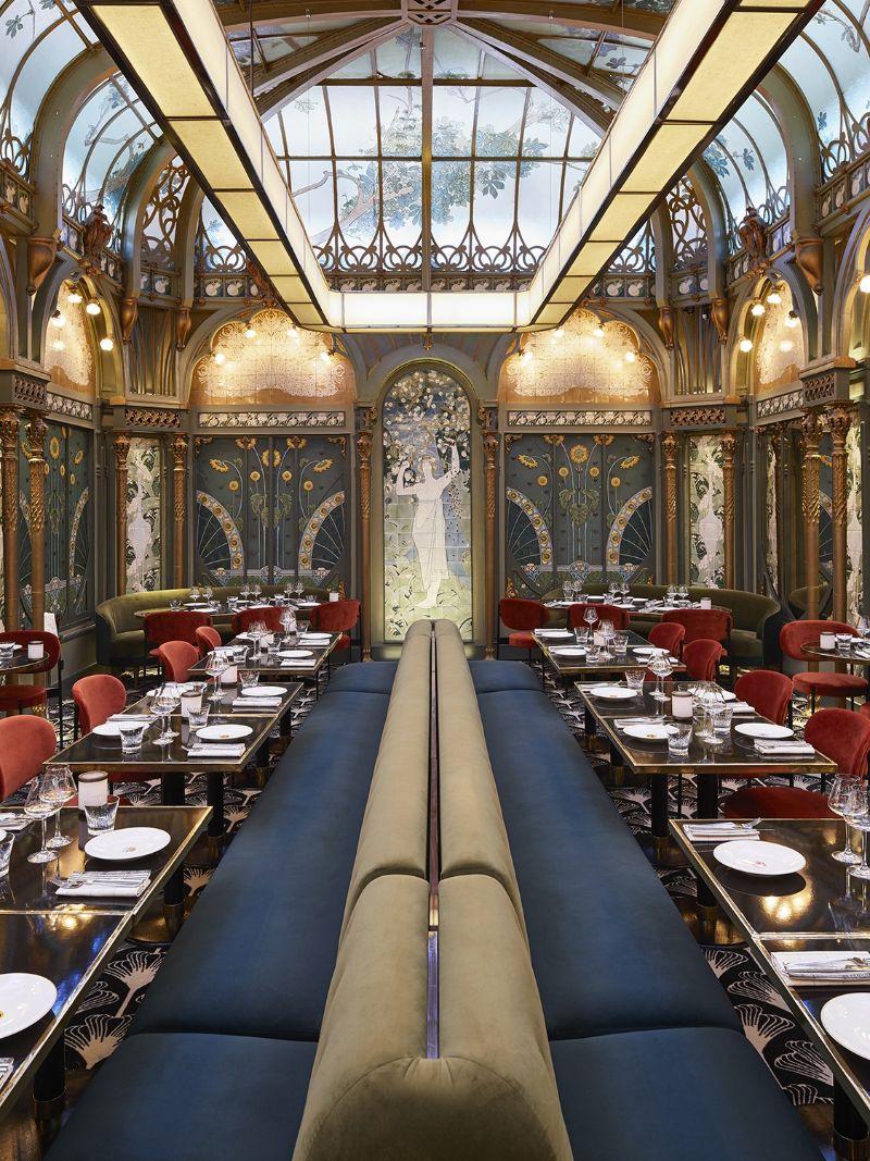 The Beefbar Paris By Humbert et Poyet: An Ode To Art Noveau Style humbert et poyet The Beefbar Paris By Humbert et Poyet: An Ode To Art Noveau Style paris restaurant maison object 20194