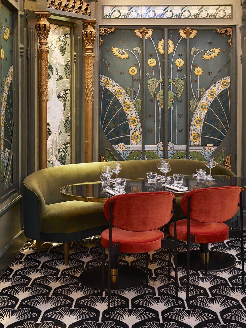 The Beefbar Paris By Humbert et Poyet: An Ode To Art Noveau Style humbert et poyet The Beefbar Paris By Humbert et Poyet: An Ode To Art Noveau Style paris restaurant maison object 20198