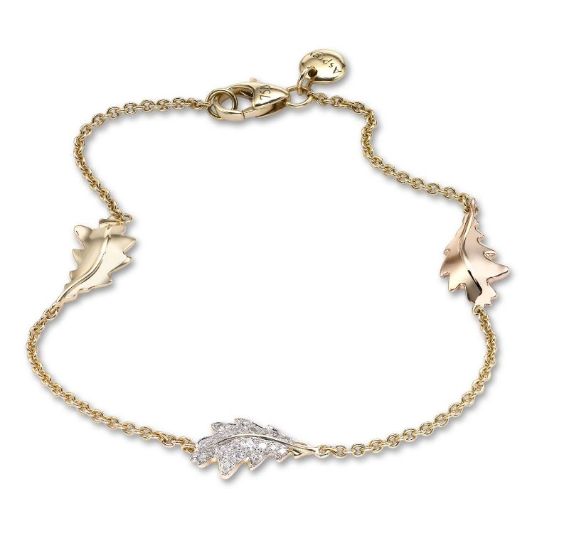 The Woodland Collection By Asprey: Jewelry With Naturalistic Forms asprey The Woodland Collection By Asprey: Jewelry With Naturalistic Forms OAK LEAF BRACELET YELLOW GOLD