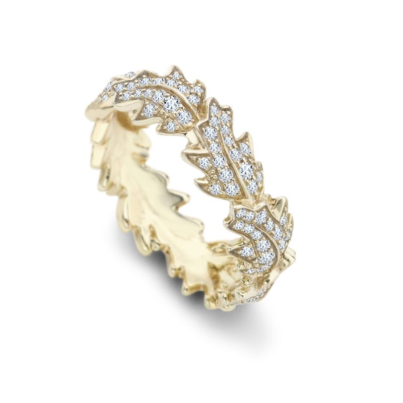 The Woodland Collection By Asprey: Jewelry With Naturalistic Forms asprey The Woodland Collection By Asprey: Jewelry With Naturalistic Forms OAK LEAF WOODLAND RING 18CT YELLOW GOLD