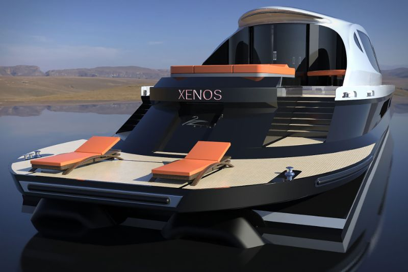 Inspired By Bugatti The Xenos An Imposing Hyper Yacht Concept