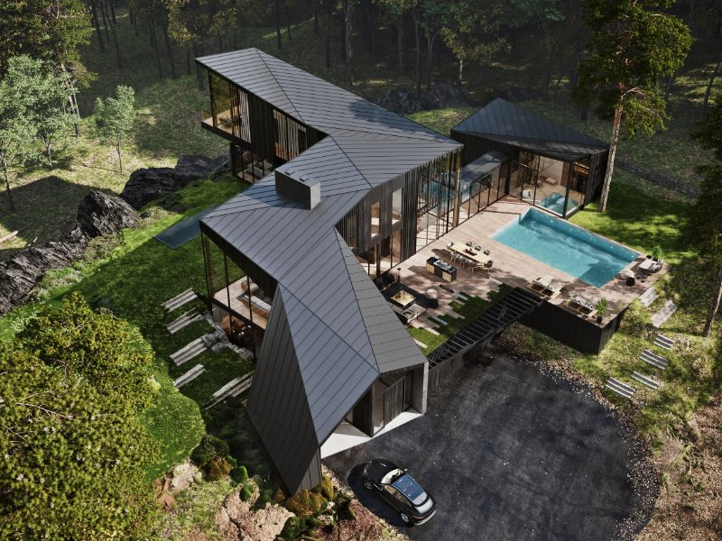 """Aston Martin Designs First Residential Project, Sylvan Rock aston martin """"Sylvan Rock"""" Is The First Residential Project By Aston Martin Aston Martin Designs First Residential Project Sylvan Rock 2"""