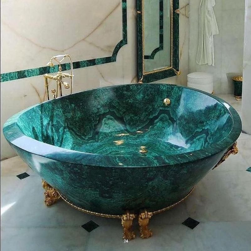 Modern Bathtubs That Are True Works Of Art modern bathtub Modern Bathtubs That Are True Works Of Art Baldi Malachite Bathtub