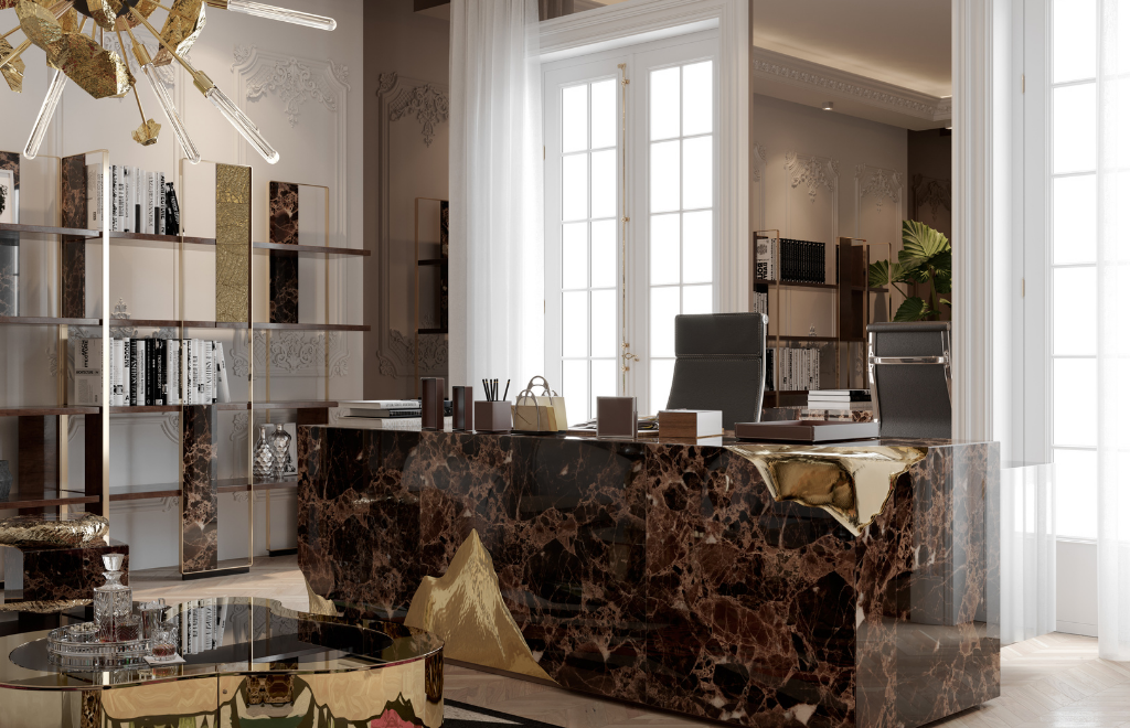 A Luxury Office Setting Inside A Multi-Million Dollar Penthouse