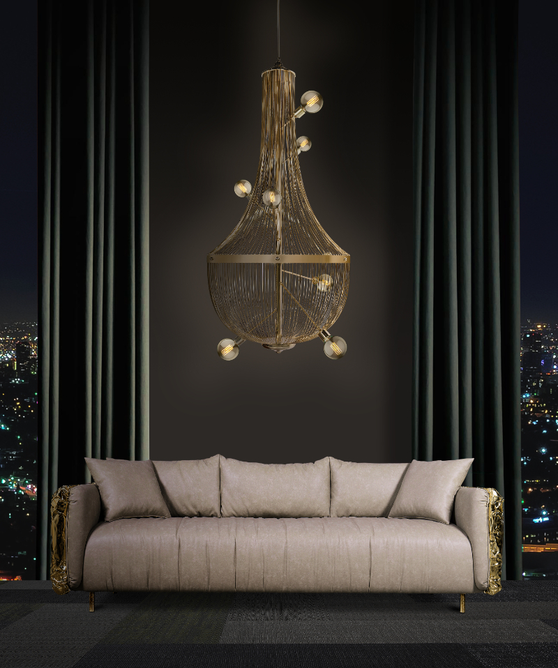The Most Luxurious And Expensive Chandeliers For An Imposing Interior expensive chandelier The Most Luxurious And Expensive Chandeliers For An Imposing Interior ambience imperfectio sofa and l chandelier 1