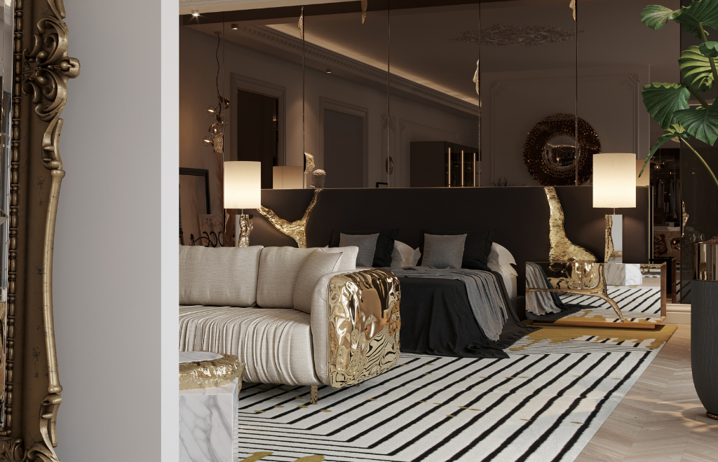 Inside An Opulent Luxury Penthouse's Master Suite