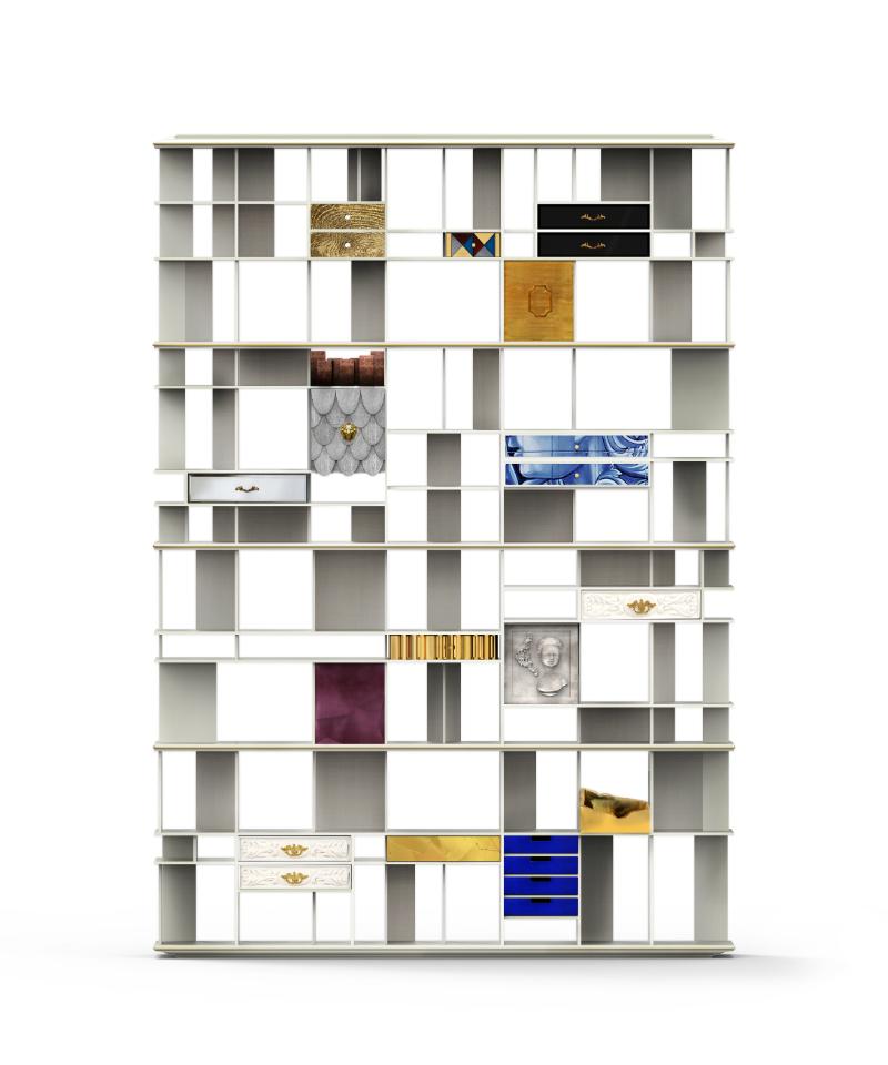 interior design project 15 Exquisite Interior Design Projects In Vienna coleccionista custom bookcase shelf 01 1