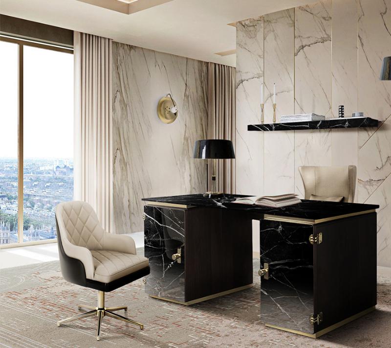 Achieve A Glamorous Home Office - 30 Luxury Furniture Ideas