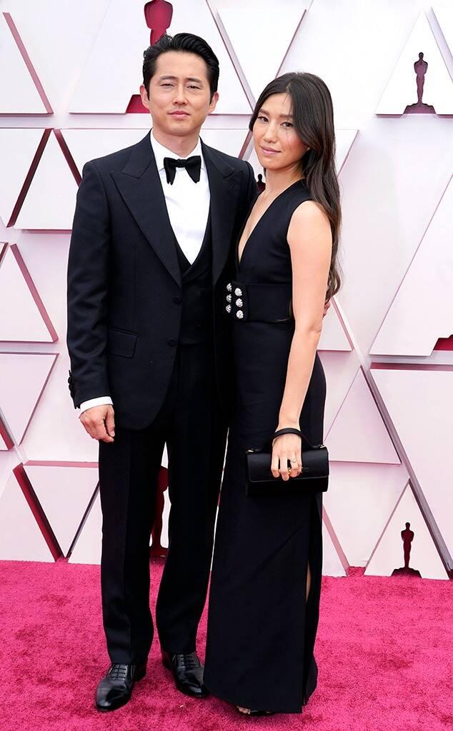 The Best Dressed Men On The Oscars oscars The Best Dressed Men At The Oscars rs 634x1024 210425150241 634 2021 Oscars Red Carpet Joana Pak Steven Yeun