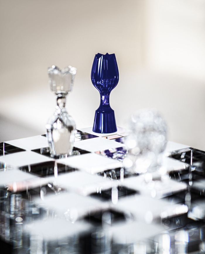 Chess Game Made Out Of Crystal For A Millionaire chess game Chess Game Made Out Of Crystal For A Millionaire The King and the Queen credit Benoit Teillet TIF copie
