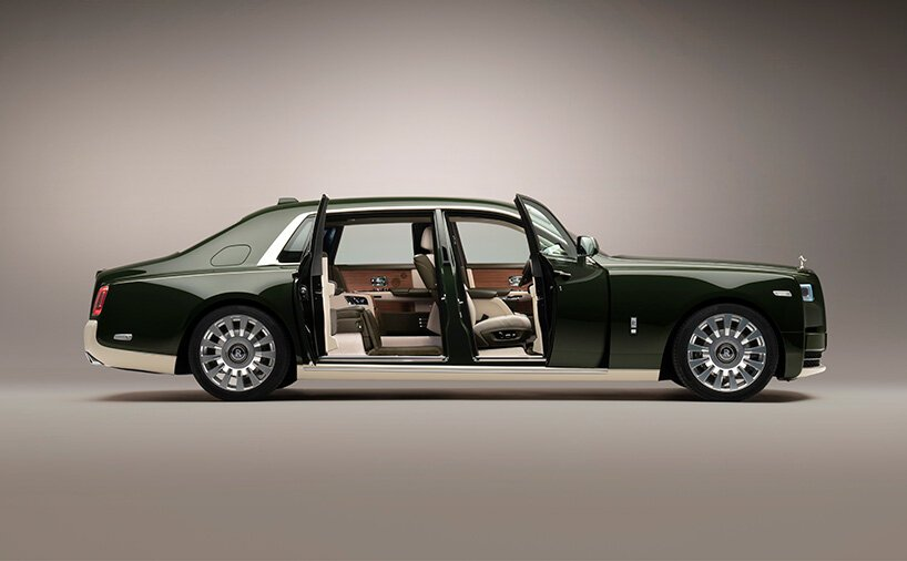 Rolls-Royce And Hermès Collaboration In A Bespoke Phantom rolls-royce Rolls-Royce And Hermès Collaboration In A Bespoke Phantom rolls royce hermes phantom designboom 001