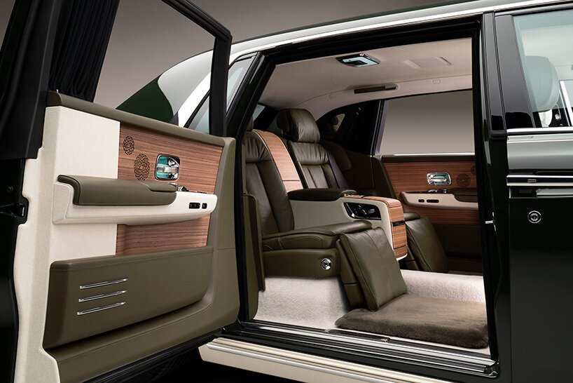 Rolls-Royce And Hermès Collaboration In A Bespoke Phantom rolls-royce Rolls-Royce And Hermès Collaboration In A Bespoke Phantom rolls royce hermes phantom designboom 002