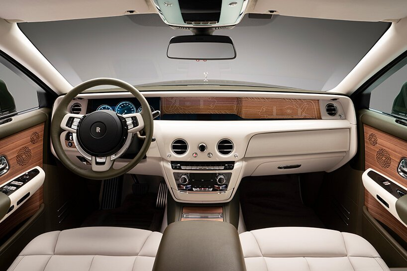 Rolls-Royce And Hermès Collaboration In A Bespoke Phantom rolls-royce Rolls-Royce And Hermès Collaboration In A Bespoke Phantom rolls royce hermes phantom designboom 003