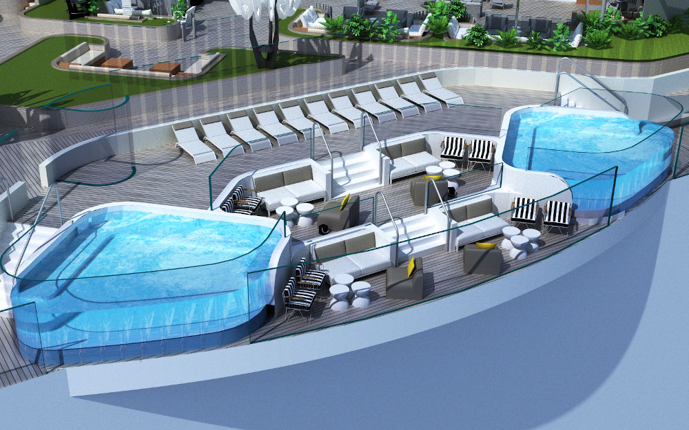 Luxury Ship From Celebrity Cruises With Exclusive Design luxury ship Luxury Ship From Celebrity Cruises With Exclusive Design rooftop garden invites guests to relax or play