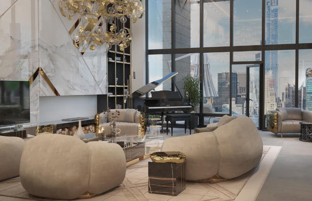 Inside A Luxury New York Penthouse By Boca do Lobo Studio