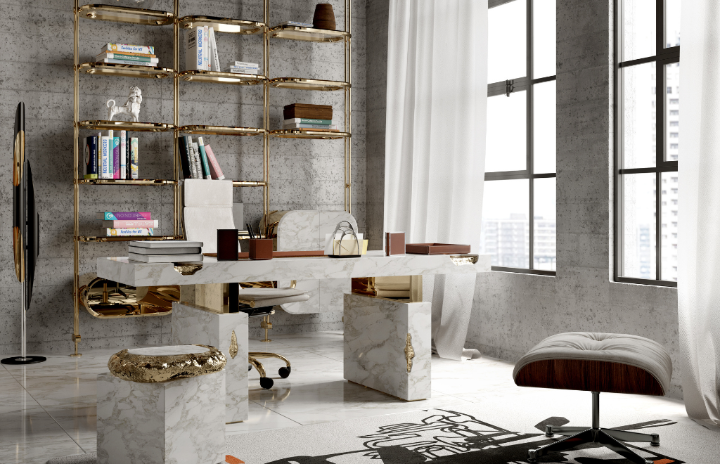 This Is What An Eclectic Loft's Luxury Office Looks Like!